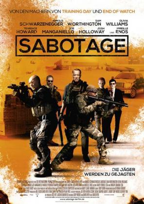 Filmplakat von Sabotage