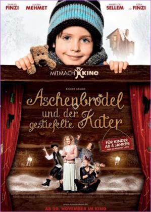 Filmbeschreibung zu 25. Dresdner Kinderfilmfest KinoLino: Aschenbrödel und der Gestiefelte Kater