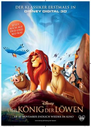 Filmplakat von Der König der Löwen 3D (1994) (OV)