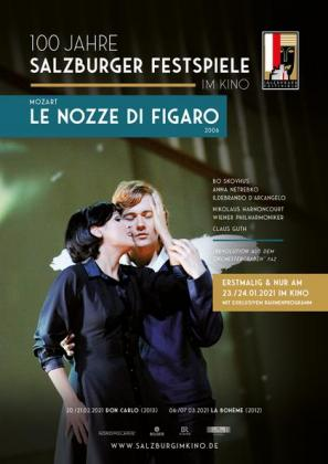Filmplakat von Salzburg im Kino: Mozart - Le Nozze de Figaro