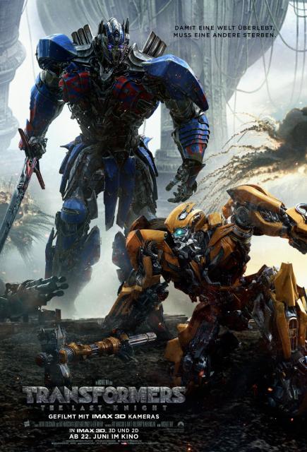 Platz 1 -  Transformers: The Last Knight